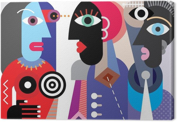 cuadros-en-lienzo-grupo-de-gente-hablando